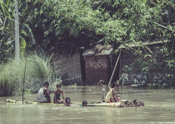 Survivors of Assam Flood