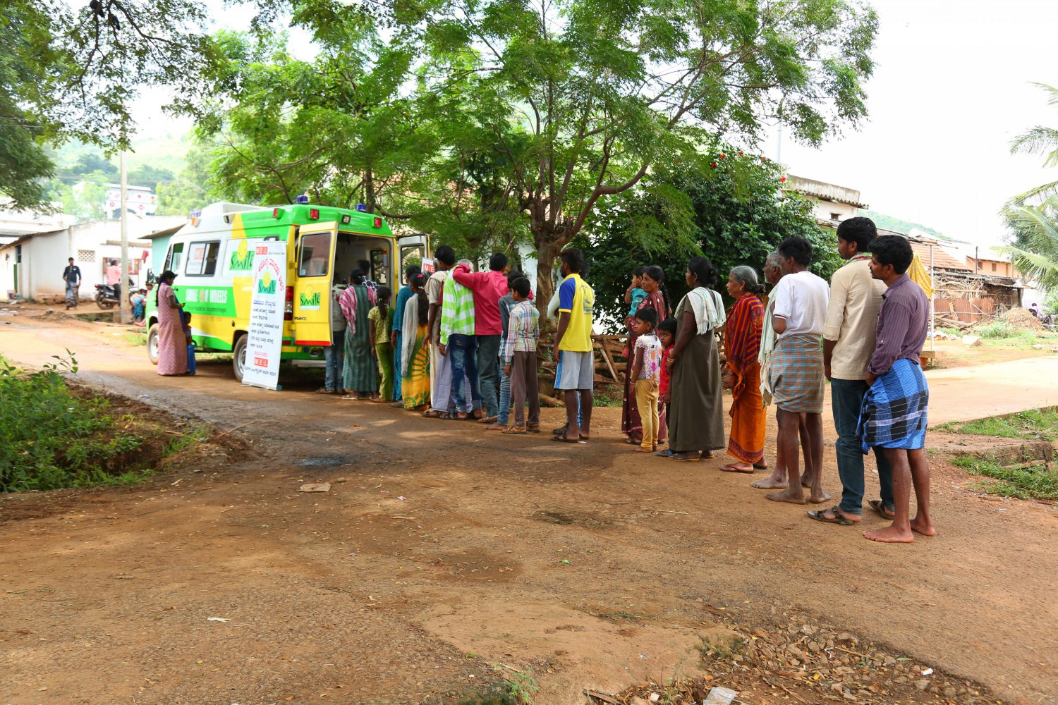 People seeking healthcare services