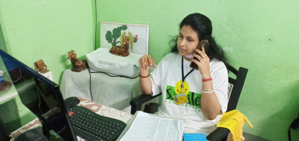 Tele-counselling service by Smile Foundation volunteer in Kolkata