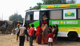 Smile on Wheels initiated in Masoodpur slum