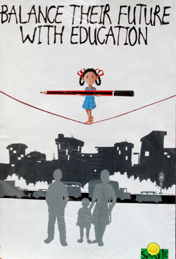 Beti Bhi Apni Hai, a success at Poster-Making at the Delhi College ...