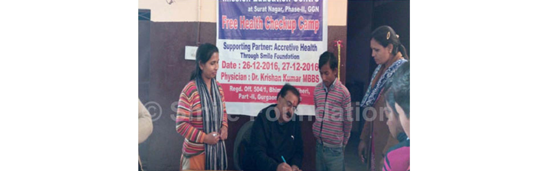 Health Camp conducted for students at Mission Education centre