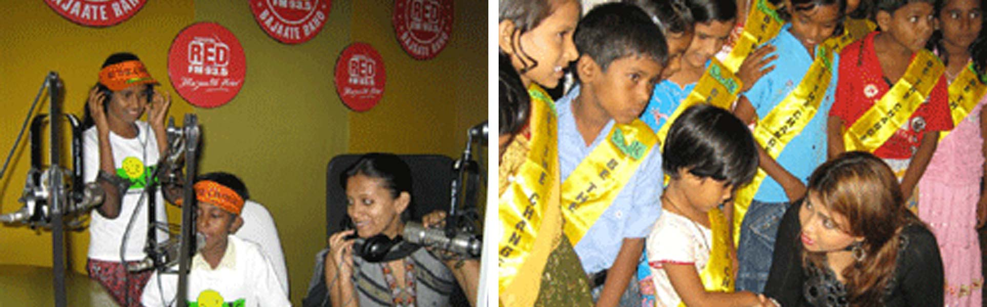 Smile kids in Red FM studio to celebrate International Literacy Day