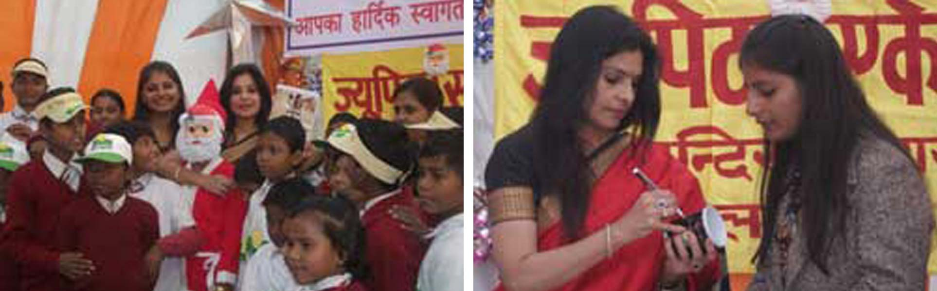 Malini Awasthi celebrates Christmas with Smile Foundation in Lucknow