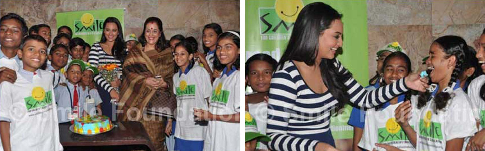 Sonakshi Sinha shares Dabangg 2 success with Smile Foundation children