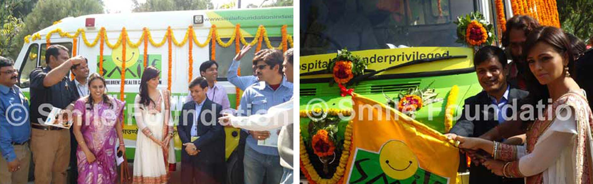 TV actor Roshni Chopra flags off Smile's latest mobile hospital in Varanasi