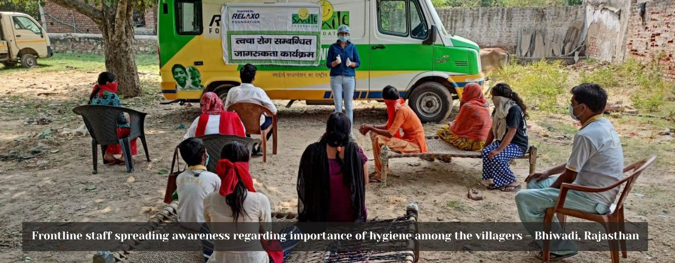 Frontline staff spreading awareness regarding importance of hygiene among the villagers – Bhiwadi, Rajasthan