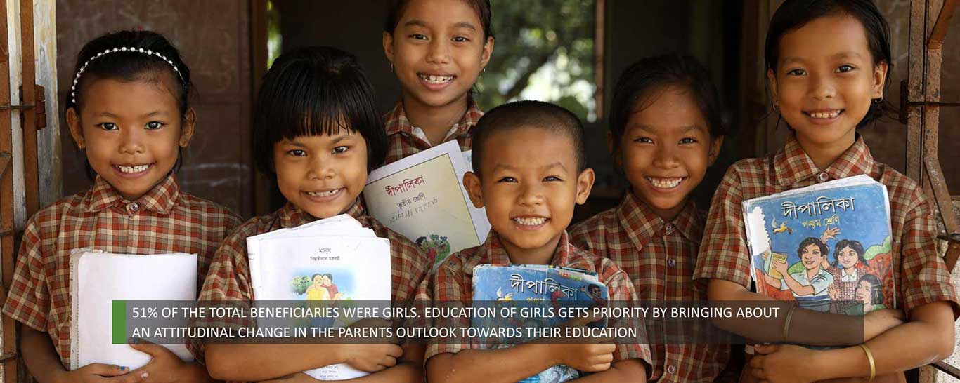 Girls Education - 51% of the total beneficial were girls